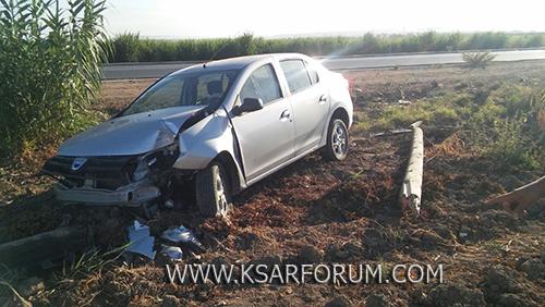 طريق العرائش : حادثة سير بين سيارتين و اعتقال السائق بسبب السكر