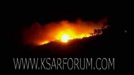 عاجل : حريق مهول بجماعة بوجديان و السكان يطالبون بالتدخل الفوري للسلطات