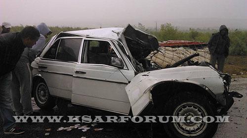 طريق بوجديان : سيارة تصدم ثلاث نسوة من نفس العائلة