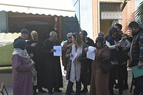 العرائش : احتجاج ضحايا مشروع السعادة العقاري
