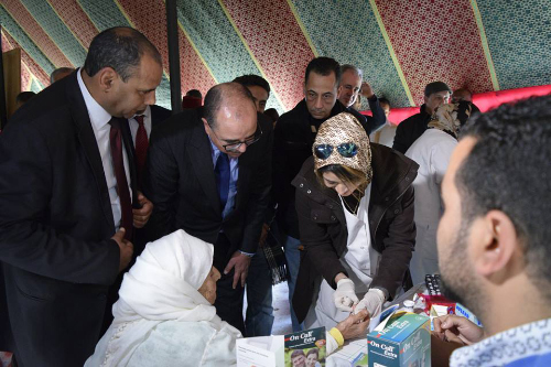 قافلة طبية مكونة من 76 إطارا صحيا تحط رحالها بدوار الحرش أولاد بجنون بجماعة السواكن