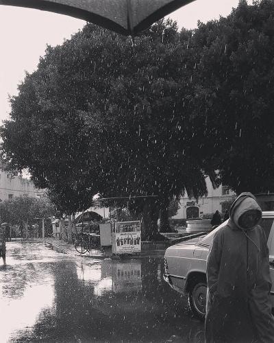 مطر بالقصر الكبير