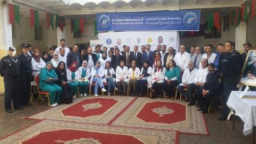 نقابة صيادلة القصر الكبير تنظم حملة طبية بالسجن المدني