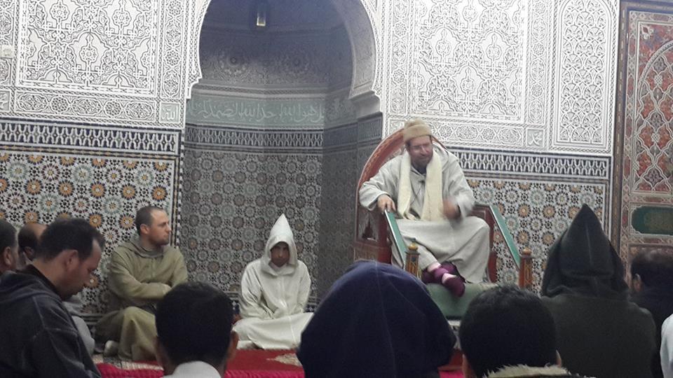 الدكتور محمد الصمدي في الدرس الثاني للكراسي العلمية  بالمسجد السعيد بالقصر الكبير