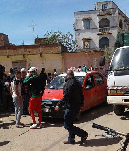 أولاد احميد : عربة مجرورة يقودها قاصر تصدم سيارة أجرة