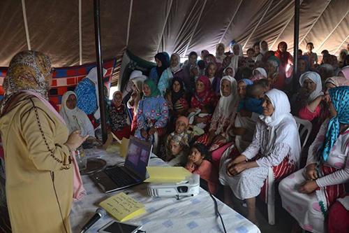 جمعيات المجتمع المدني بدوار الركاكدة بسوق الطلبة يحاربون داء سرطان الثدي والرحم بتعاون مع جمعية أمومة