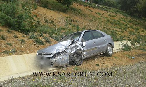 الزوادة : حادثة سير تخلف خسائر مادية جسيمة