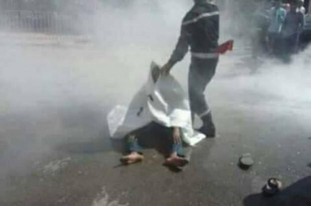 شخص يحاول إضرام النار في جسده بساحة المنار