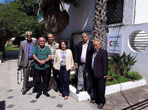 على هامش زيارة وفد يمثل الجامعة للجميع وجمعية البحث التاريخي لسفارة البرتغال
