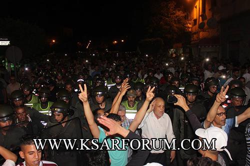 الحراك القصري : المحتجون و الشرطة … ليلة من الفر و الكر ، إصابات و عزيمة على الاستمرار