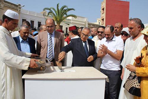 بساحة 10 أبريل .. وضع الحجر الاساس لنصب تذكاري من طرف المندوب السامي للمقاومة وجيش التحرير