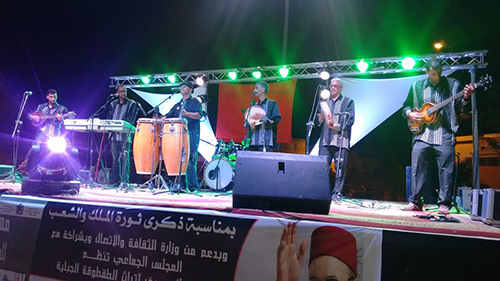 فعاليات الدورة الرابعة لمهرجان الحياة : فرقة لرصاد تلهب الجمهور القصري
