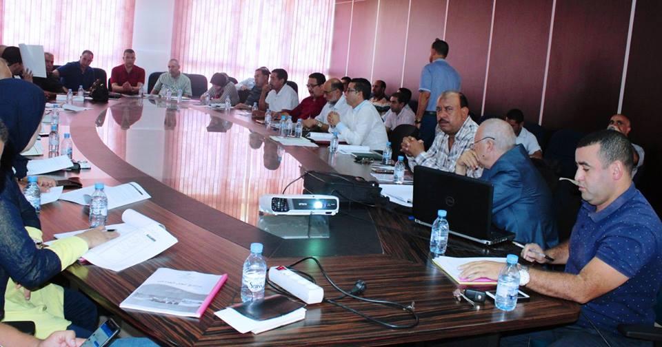 اجتماع اللجان الدائمة للمجلس لتدارس برنامج العمل الجماعي بالقصر الكبير