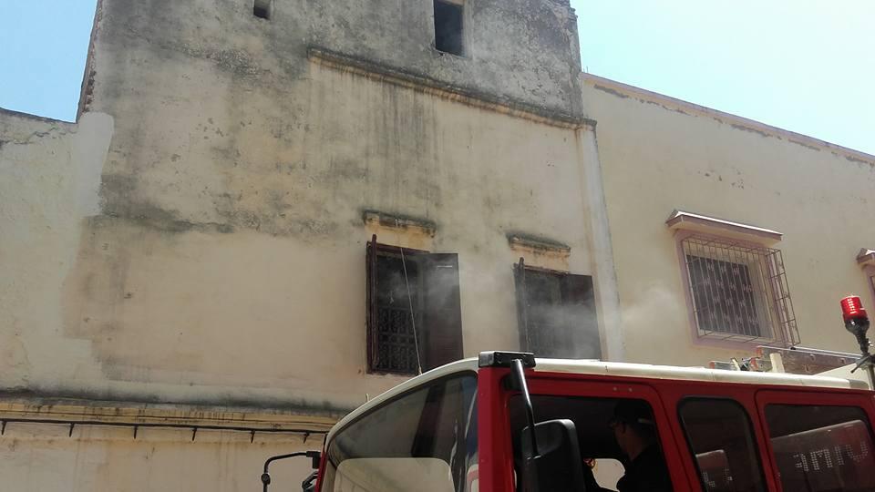 حريق بحي الأندلس بالقصر الكبير