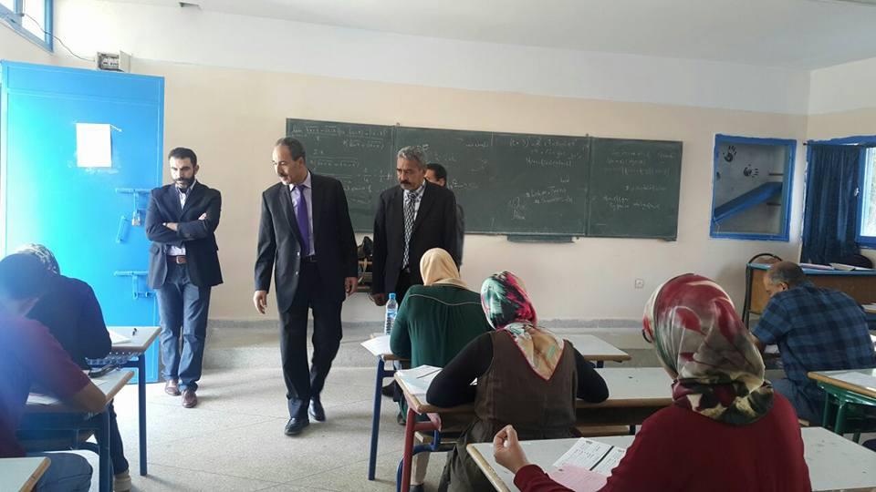 المدير الاقليمي للتعليم بالعرائش يتفقد مركز إجراء الامتحانات المهنية 2017