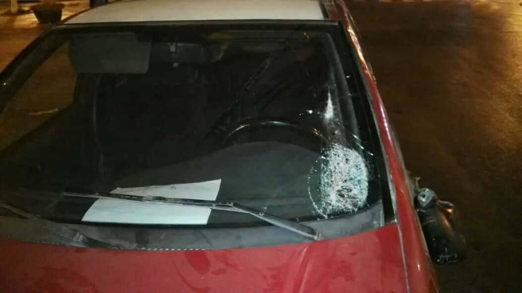 حصان عربة مجرورة يصيب واجهة سيارة من الصنف الثاني