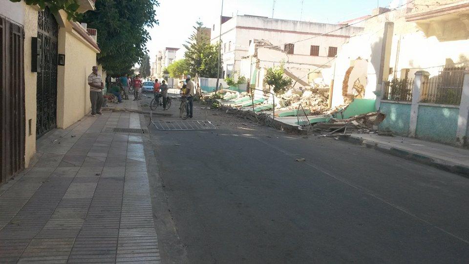 إصابة عاملان بورش هدم مسجد السدراوي بحي الاندلس