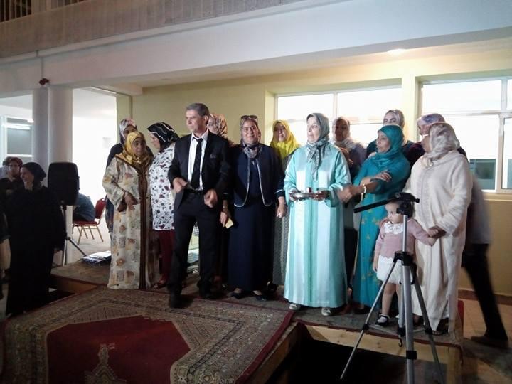 مدرسة الشهيد الزرقطوني / القصر الكبير، في حفل تكريم الأستاذين مصطفى بكري وفاطمة اليزيدي