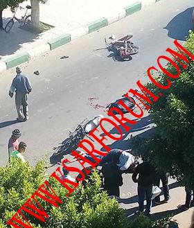 طريق أولاد أحميد : ضحيتين في حالة خطيرة جراء حادث اصطدام دراجتين ناريتين