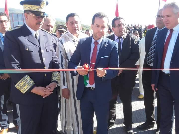 عامل اقليم العرائش يدشن الطريق الرابطة بين الحرارة وسيدي احمد الجباري