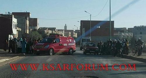 طريق المريسة : سيارة بيكوب تصدم تلميذة بمدرسة بمدرسة جابر بن حيان