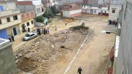 سقوط سقف منزل على سيدة بحي اولاد احميد