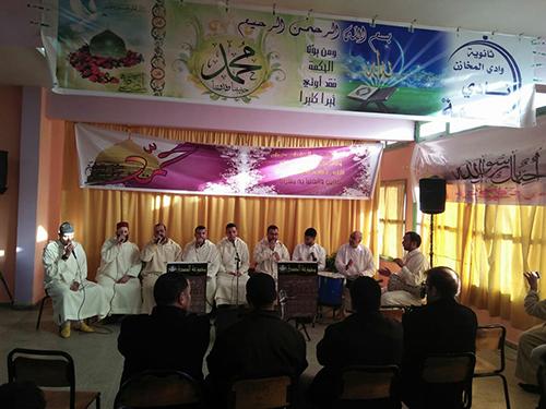 نادي الحكمة بثانوية وادي المخازن ينظم أمسية في مدح خير البرية