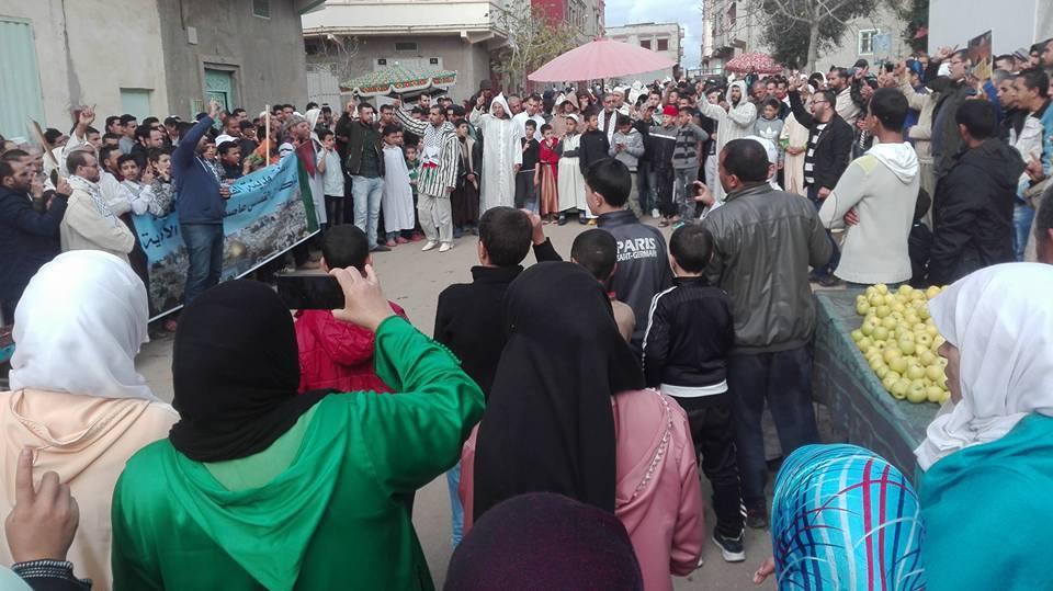 الهيئة المغربية لنصرة قضايا الأمة بالقصر الكبير في وقفة احتجاجية