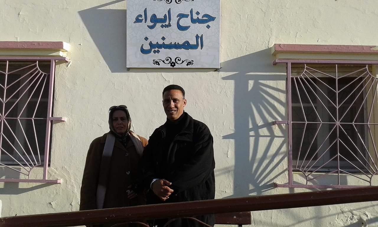 في ذكرى 11يناير مركز عماد الشاوش في زيارة لدار المسنين