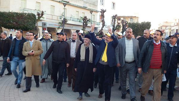 السيمو يدشن حملته الانتخابية وسط المدينة مدعما بأنصاره و حلفائه
