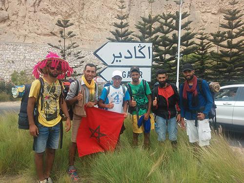 استقبال شباب الصحوة بعد رحلتهم إلى أكادير مشيا على الأقدام