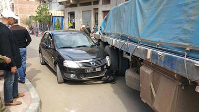 قائد الملحقة الرابعة يتعرض لحادثة سير بالقرب من محطة القطار