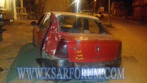 """عربة مجرورة تتسبب في خسائر مادية لطاكسي و إصابة سيدة بعد سقوطها من """" الكارو """""""