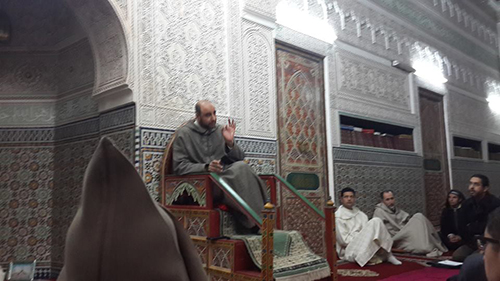 كرسي أصول الفقه للدكتور محمد الحراق بالمسجد السعيد بالقصر الكبير