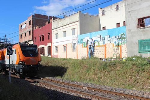منتدى أوبيدوم يباشر تفعيل أولى الجداريات على مستوى الخط  السككي العابر للمدينة