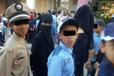 """تمثيلية """"اعتقال منقبات"""" تغضب إسلاميين .. والوزارة: سوء فهم"""