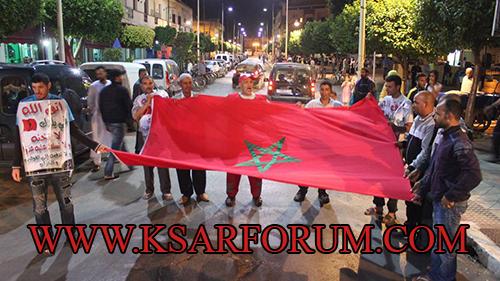"""المشاركون في مسيرة الولاء للملك """" المسيرة نظمت لوحدها و جاءت من عند الله """" و المحتجون """" خونة و إرهابيين """" ـ فيديو ـ"""