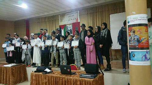 """الثانوية المحمدية ترفع شعار """"القدس أمانة في أعناقنا"""""""