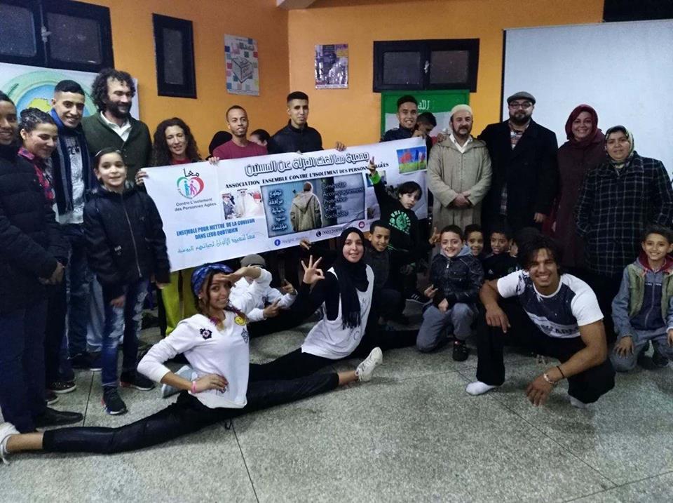 رقصات فنية بدار الشباب الحريزي :جمعية capoeira canigo الاسبانية بالقصر الكبير