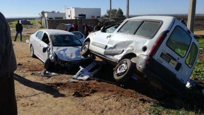 خسائر مادية في حادثة سير قريبا من السواكن