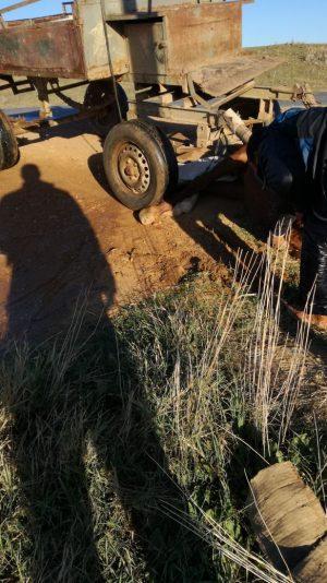 عربة تتسبب في حادثة سير قريبا من دوار الدرابلة