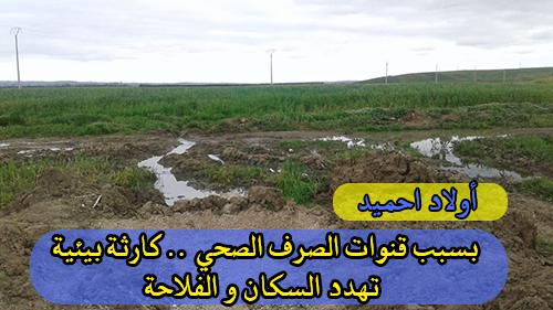 أولاد احميد : بسبب قنوات الصرف الصحي .. كارثة بيئية تهدد السكان و الفلاحة