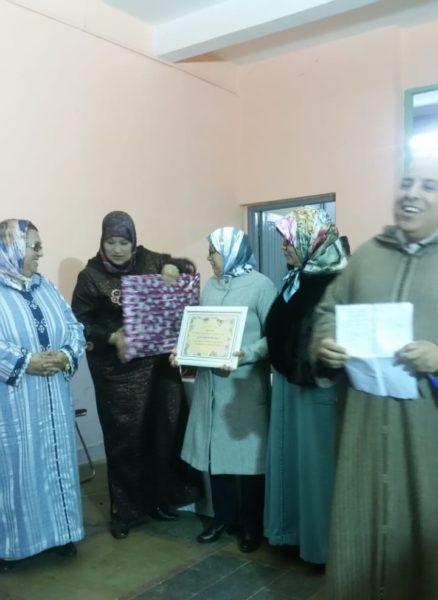 مدرسة التوحيد تكرم أربعة من أطرها الإدارية والتربوية