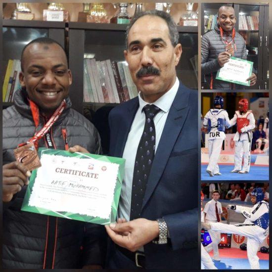 المدير الاقليمي للتربية الوطنية بالعرائش يستقبل أستاذا بطلا في رياضة الباراتكواندو