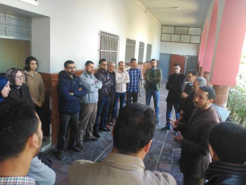 أساتذة الثانوية التأهيلية المحمدية بالقصر الكبير يصدرون بيانا للرأي العام