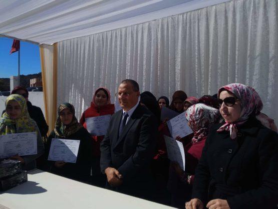 عامل إقليم العرائش في زيارة  للمركز الاجتماعي للقرب مولاي عبد السلام بن مشيش