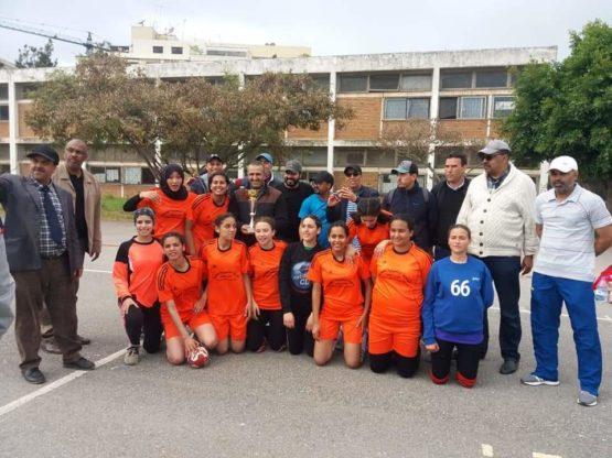 فتيات اليد بالثانوية المحمدية يلعبن نهائي بطولة المغرب