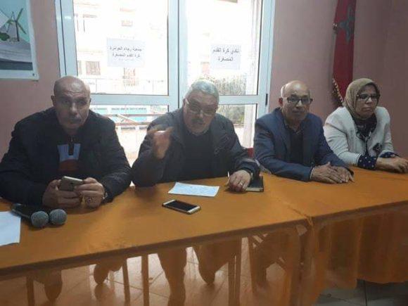 الكاتب الجهوي للاتحاد الوطني للشعل بالمغرب محمد السندي في لقاء تأطيري بالعوامرة