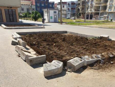 """"""" حديقة مسجد القدس غير قانونية """" .. باشا المدينة يتدخل لإعادة الوضع إلى أصله"""