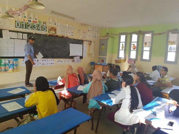جمعية المبادرة مستمرة في تقديم دروس الدعم التربوي بمدرسة عبد الله الشفشاوني